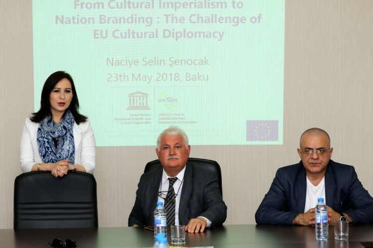 Chair Holder of UNESCO Cultural Diplomacy Selin Senocak held an open lecture in the IEPF office - Photos