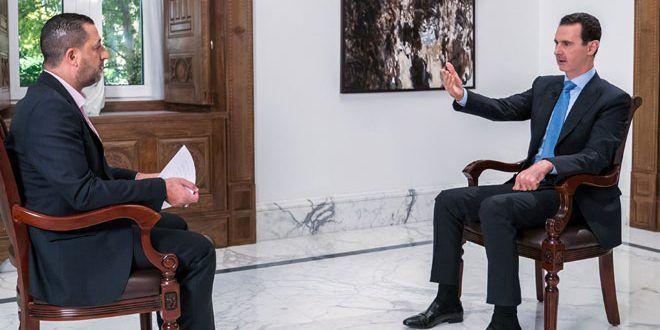 """الرئيس الأسد في مقابلة مع قناة العالم: العلاقة السورية الإيرانية استراتيجية.. الرد الأقوى ضد """"إسرائيل"""" هو ضرب إرهابييها في سورية - الفيديو"""