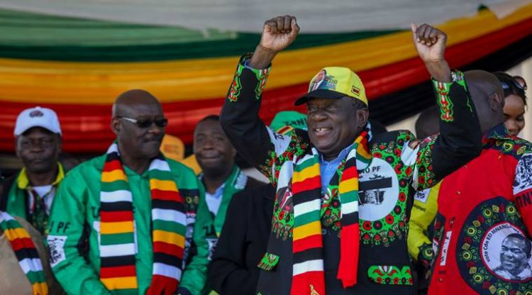 Zimbabwe's President Emmerson Mnangagwa unhurt after blast at rally in Bulawayo