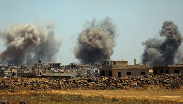Syrian military bombs Deraa, extending assault in southwest