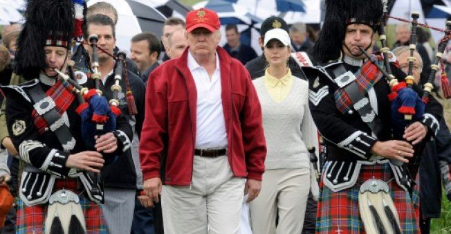 Bad blood over golf course stalks Trump's Scotland trip