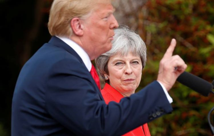 UK PM Theresa May says Donald Trump told her to sue European Union - Brexit