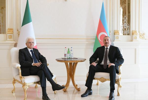 В Баку прошла встреча президентов Азербайджана и Италии - ФОТО