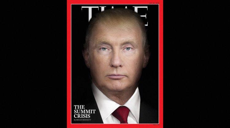 Путина и Трампа изобразили на обложке Time в одном лице