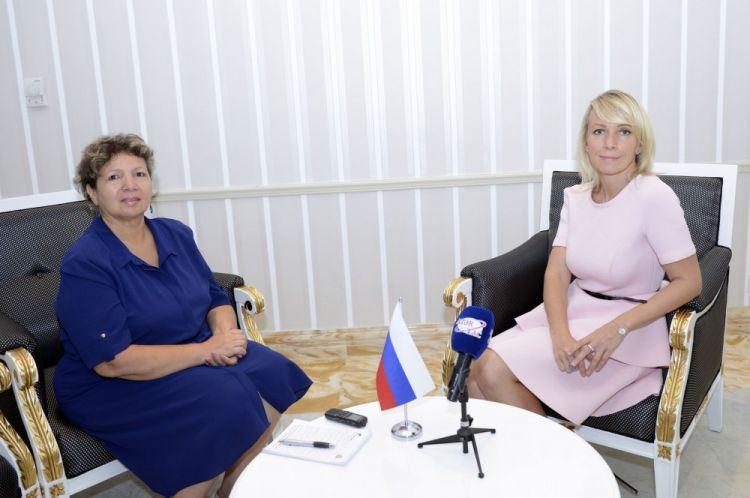Мария Захарова в интервью: Россия приветствует любые формы диалога по карабахскому урегулированию, которые дадут позитивный результат