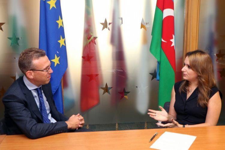 """""""Azerbaycan'dan ayrılıyorum, ama kalbim burada kalacak"""" - AB'nin Azerbaycan'daki delegesi - VİDEO"""