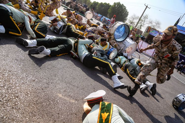 Terrorist act during the military parade in Iran