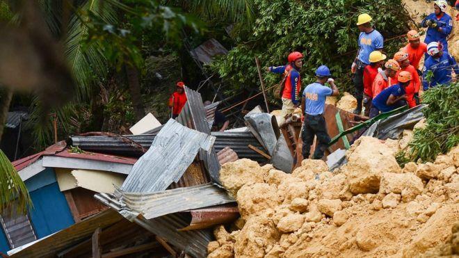 Filipinler'deki Mangkhut tayfunu tarafından tetiklenen toprak kaymaları - Ölü sayısı 98'e ulaştı
