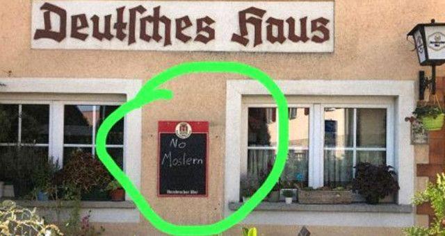 Almaniyadakı restoran müsəlmanları ayağa qaldırdı