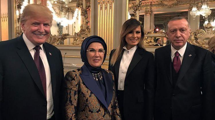 Erdogan, Trump meet over dinner in French capital