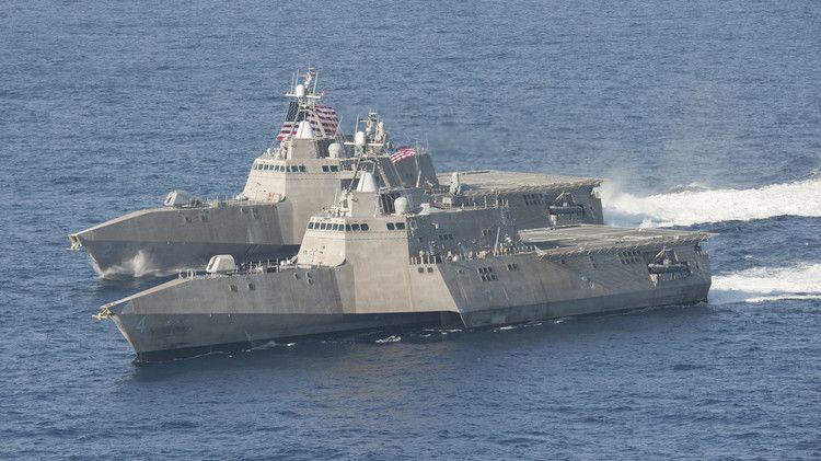 البحرية الأمريكية تنفذ مناورات حربية فى بحر الفلبين