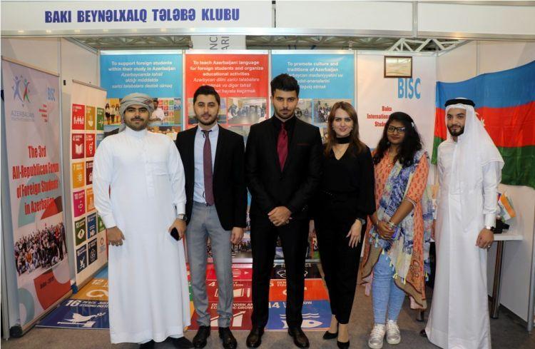 Бакинский Международный Студенческий Клуб представлен на V Республиканской выставке молодежных организаций - ФОТО