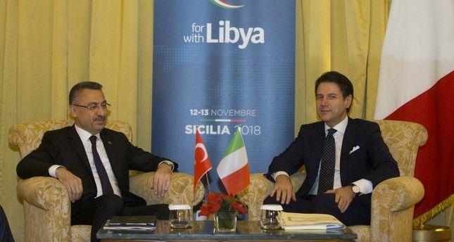 İtalya başbakanı Türkiye cumhurbaşkanı Yardımcısını kararından döndüremedi