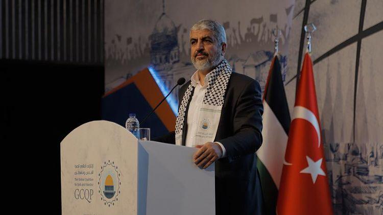 """""""Türk halkı düşmanların planlarını bozdu"""" - Halid Meşal"""