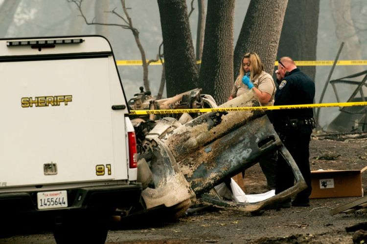 Death Toll from California Wildfires Rises to 76