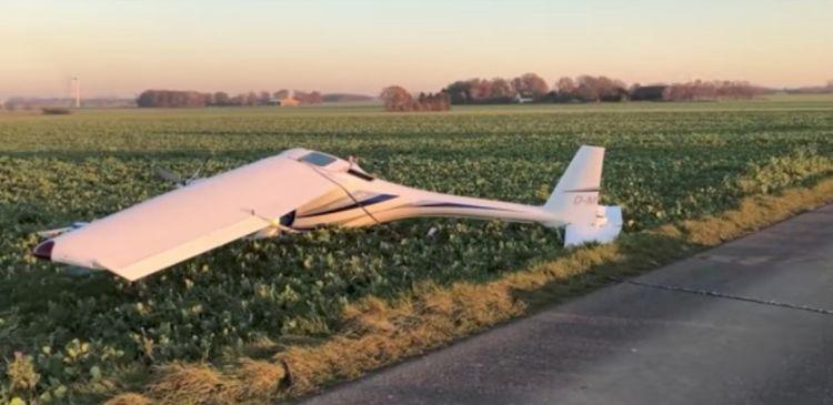 Два легкомоторных самолёта столкнулись в воздухе в Германии - ВИДЕО