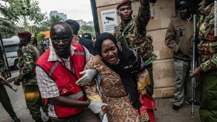 At least 11 dead in attack at Nairobi hotel complex, as evacuations continue