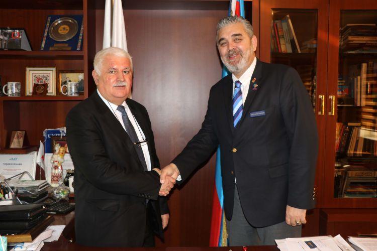 Rotary Kulübü'nün temsilcileri BAMF başkanıyla görüşdü - VİDEO - FOTO GALERİ