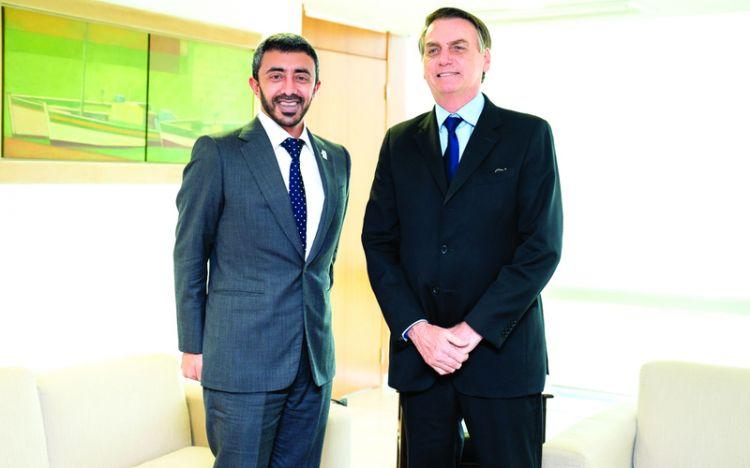 عبدالله بن زايد: علاقات الإمارات والبرازيل متطورة