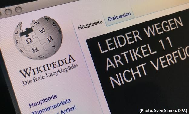 German Wikipedia goes offline in protest over EU copyright lawg