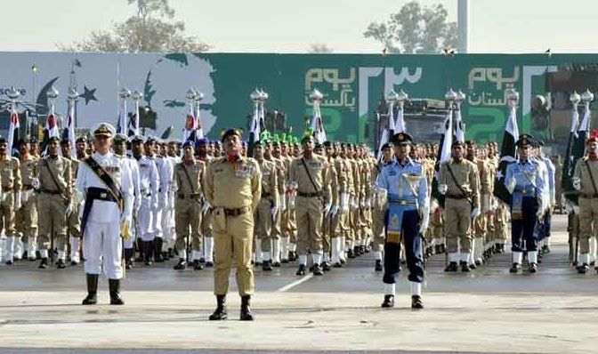 Armed Forces Conduct Pakistan Day Parade