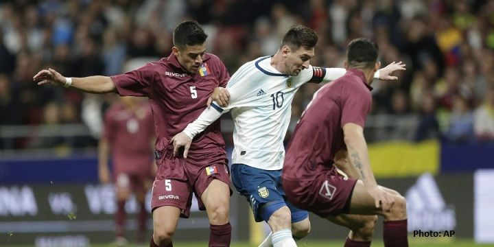 Venezuela beat Argentina 3-1 on Leo Messi's international return