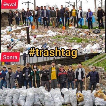 Азербайджанцы устали жить  в грязи #trashtag - ФОТО