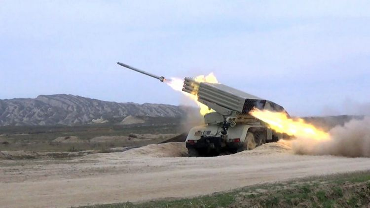 Rocket and artillery units conducted live-fire training - Azerbaijani Army Military Exercises - VIDEO - PHOTOS