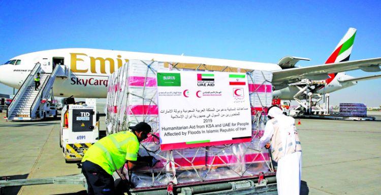 الإمارات تسيّر طائرة إغاثة لمتضرري السيول في إيران
