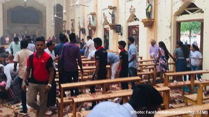 6 deadly explosions - Churches and hotels blasted in Sri-Lanka