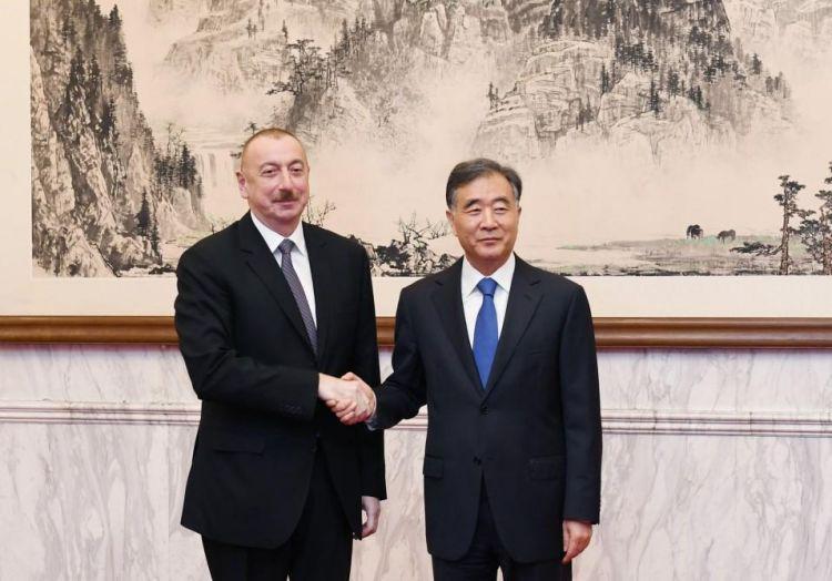 Ильхам Алиев встретился в Пекине с Ваном Яном