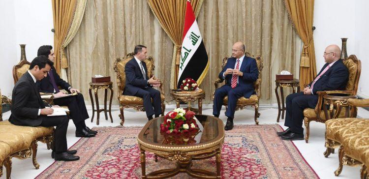 الرئيس العراقي يستقبل السفير التركي ببغداد ويؤكد ضرورة توسيع التعاون