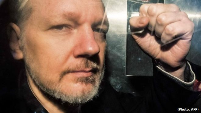 Julian Assange faced 17 charges with a possibility of 175 years sentence