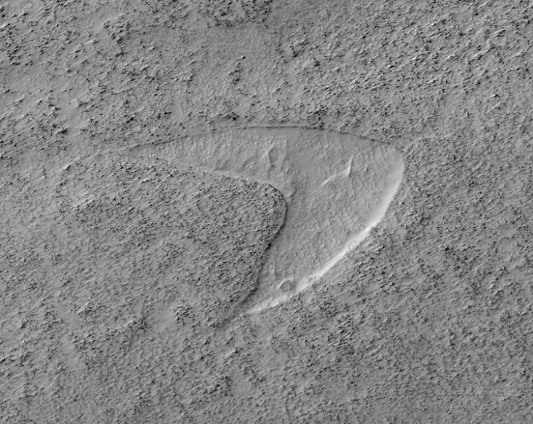 The Star Trek Logo was found on Mars