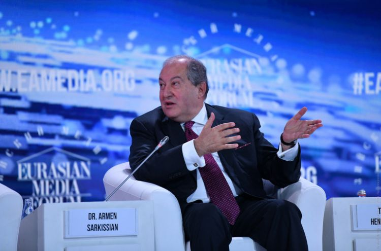 'Why not Armenia solve 'Nagorno Karabakh' issue with Azerbaijan, before bridging Russia and Europe' - question to Armenian President Sarkissian