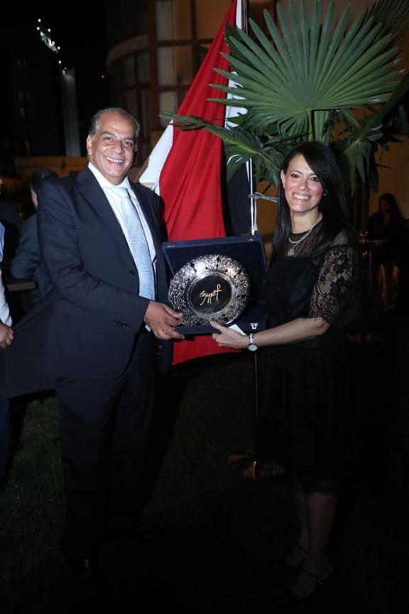 السفارة المصرية تنظم حفل استقبال على شرف زيارة الدكتورة رانيا المشاط الى أذربيجان
