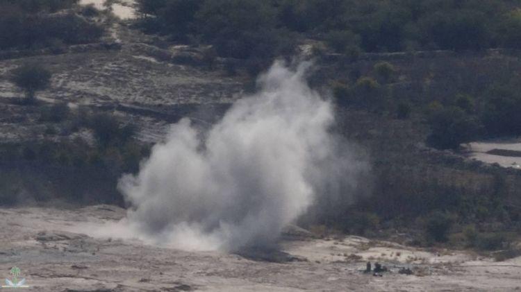 انفجارات متتالية من مخازن أسلحة لمليشيا الحوثي الإرهابية في شمال اليمن