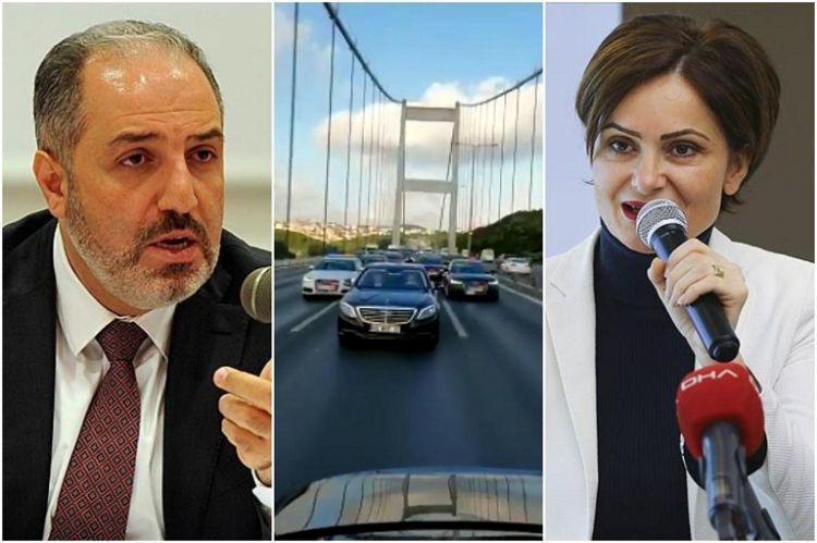 """AK Partili Yeneroğlu ile CHP'li Kaftancıoğlu'nun """"MHP konvoyu"""" tartışması"""