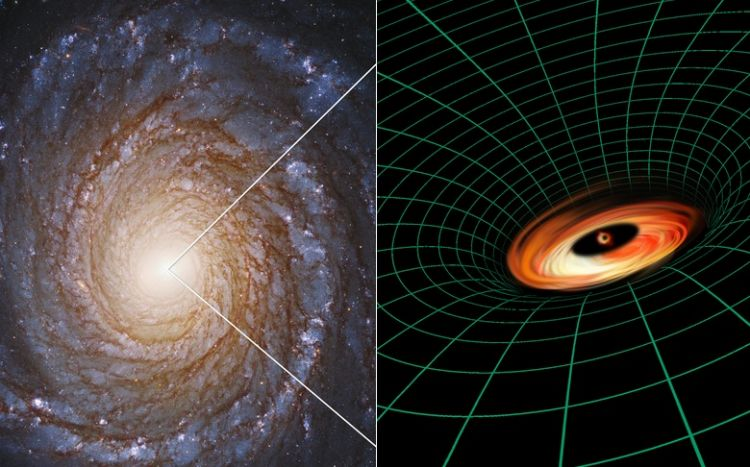 "Hubble spots ""impossible"" debris disk around a black hole"