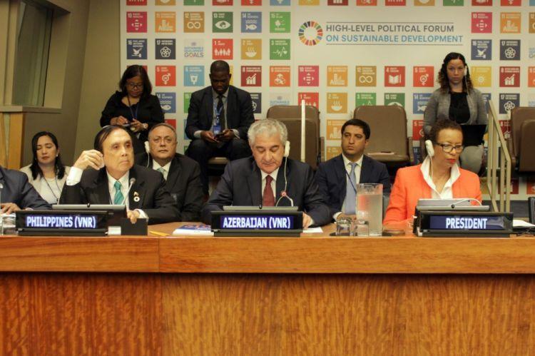 أذربيجان تستبق الدول الأخرى في تقديم التقرير الوطني الطوعي إلى المنتدى السياسي الرفيع المستوى للأمم المتحدة للمرة ثانية.
