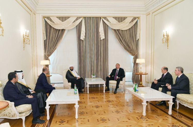 الرئيس إلهام علييف يلتقي وزير العدل السعودي