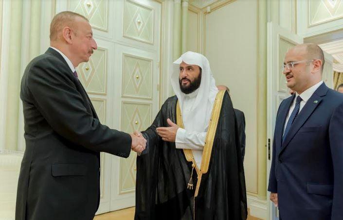 رئيس أذربيجان يبحث مع الصمعاني تعزيز العمل المشترك