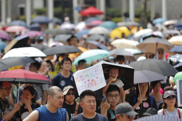 Hong Kong protests move forward despite police objections   Eurasia
