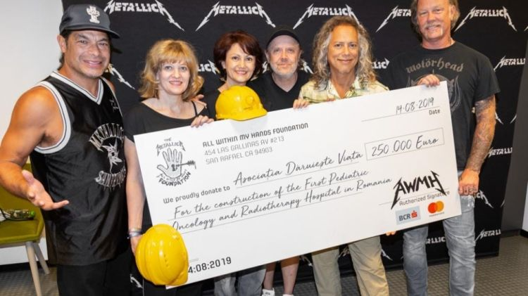 US rockers Metallica donate 250,000 euros for Romanian pediatric hospital
