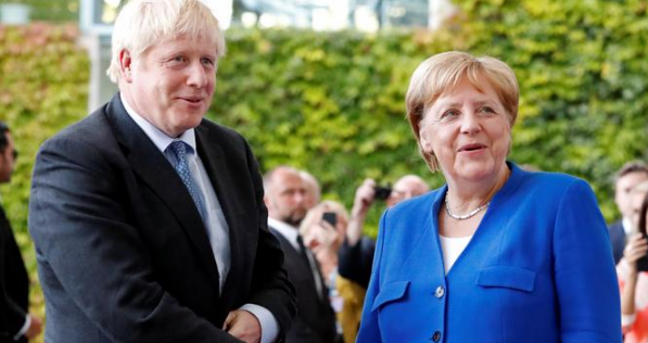 Merkel and Johnson agree on Brexit goal - but not how to reach it