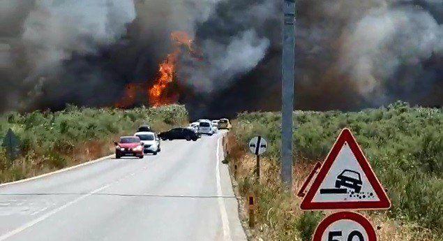 İzmir'in ardından Balıkesir de alev alev yanıyor - Son dakika!!