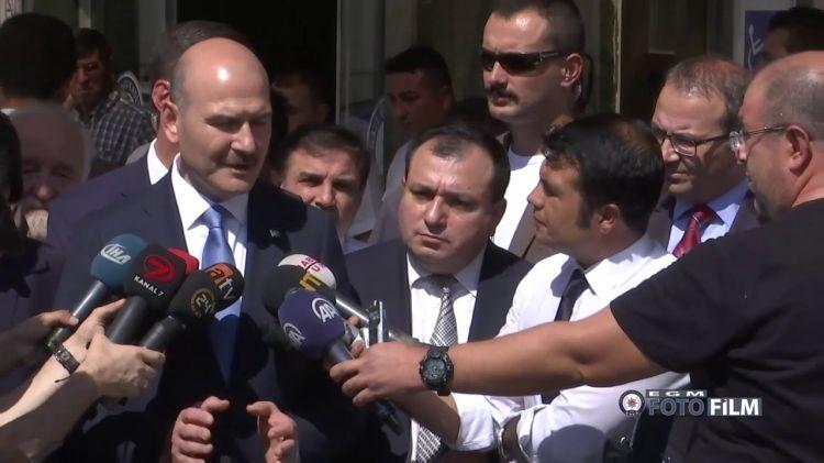 """Süleyman Soyludan şok açıklama - """"teröre yardım etmek bir partinin sonunu getiren güçlü adımdır"""" - VİDEO"""