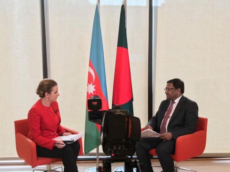 سفير بنغلاديش حول السلامة الإقليمية لأذربيجان - قناة CBC التلفزيونية - الفيديو