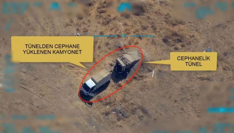 Türk qırıcıları silah yükləyən terrorçuları havaya uçurdu - ANBAAN VİDEO