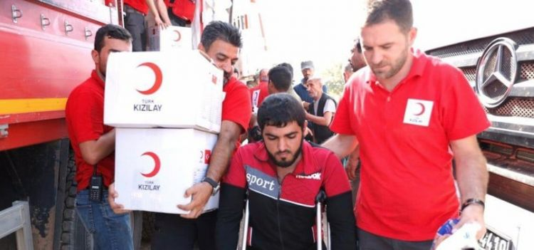 Turkish Red Crescent provides aid to Syria's Tal Abyad